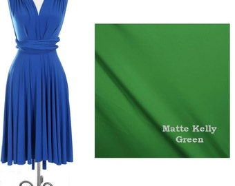 Custom Listing for linz7777 ----Convertible Dress in Matte Kelly Green