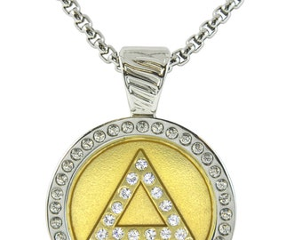Gold Delta featuring Swarovski Crystals Magnetic Interchangeable Necklace