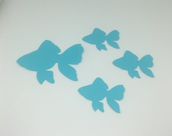 25 Die Cut Cardstock Angel Fish
