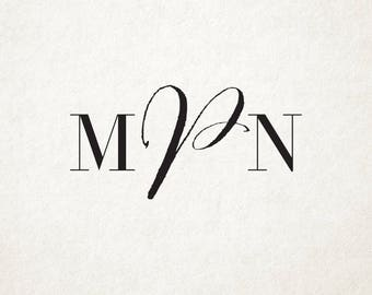 Custom Wedding Monogram Design, Custom Wedding Logo Design, Custom Initials Wedding Branding, Personalized Wedding Monogram Logo