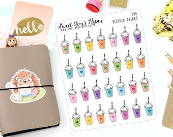Smoothie Planner Stickers - Healthy Planner Stickers - Doodle Planner Stickers - Hand Drawn Stickers - Blended Drink Stickers - 890