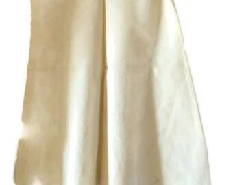 Vintage baby slip / Christening gown / Cotton flannel slip / embroidered baby dress / NOS / Christening dresses / Baptism gown