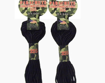 Black Parachute Cord (42 ft.)