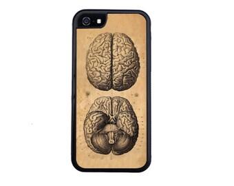 Brains! Vintage Medical Illustration Case Design For iPhone 5/5s, 5c, 6/6s, 6/6s Plus, 7, 7 Plus, 8, 8 Plus or iPhone X.