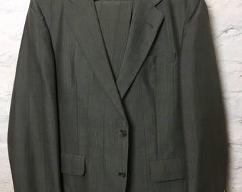 Vintage Retro 90s 1990s Smart Medium Dark Grey Regular Fit Two Piece Suit