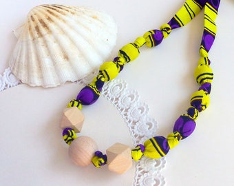 Teeting necklace, necklace for babywearing, nursing necklace, gift for mom, fabric breastfeeding necklace, gift solidarity