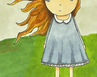 Peace and Clouds in the Wind Illustration