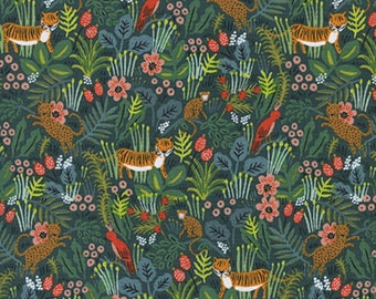 Cotton + Steel - Rifle Paper Co. - Menagerie - Jungle in Hunter