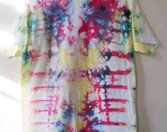 M Colorful Abstract Tie Dye T-shirt