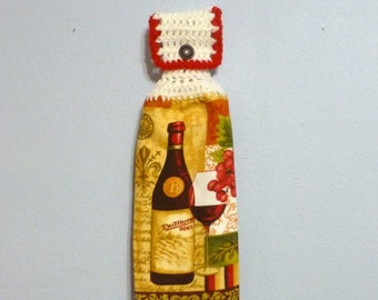 Hanging Kitchen Towel Double Layered Wine Bottle Wine Glass