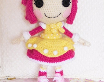 Amigurumi Doll Lalaloopsy Pattern : Crochet pattern lalaloopsy peanut amigurumi doll from