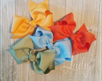 Hair-Bow Bundle-Wish You Were Here-May 2018-Made to Match Matilda Jane- bows for little girls-baby Hairbows-Jumbo Hairbows-Headband bows----