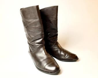 Leather boot 80s, vintage boots