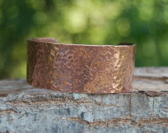 Hand Hammered Copper Cuff, Silver Cuff Hand Hammered, Cherokee Cuff, Native American Jewelry
