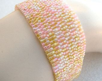 Pink Lemonade Peyote Cuff (2095)