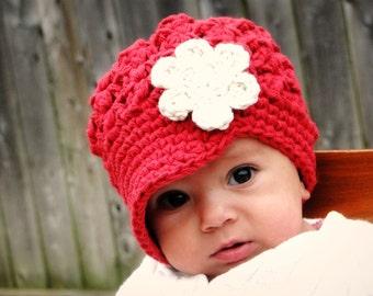 Crochet Baby Hat, kids hat, crochet newsboy hat, hat for girls, newborn hat, women's hat
