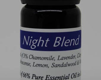 Night Blend - 10 ml of 66% pure Essential Oil - kick off your shoes, unwind and settle in for the evening