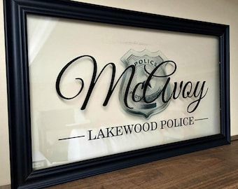 Gifts for Police Officers, Fathers Day Gift, Police Sign, Police Officer Gifts, Police Wife, Police Mom, Police Officer, Police Girlfriend