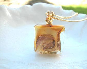 Murano Amber Glass Necklace