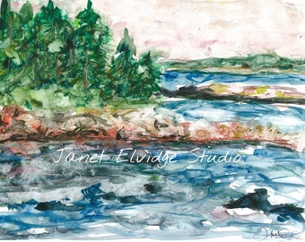 Acadia Coast. Acadia National Park, Maine. This Giclee print is from an edition of twenty, 9 x 12 prints.