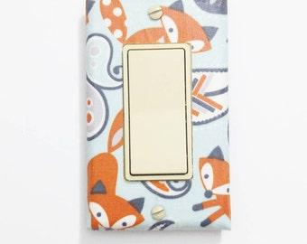 Paisley Fox light switch cover - Fox nursery decor