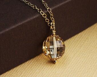 Swarovski crystal necklace crystal ball necklace gold crystal ball necklace crystal necklace crystal pendant swarovski crystal jewelry