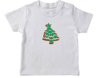 Christmas Tree Cookie  Boy's White T-shirt