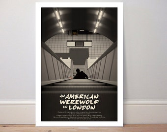 Movie poster 'An American Werewolf in London' colour print
