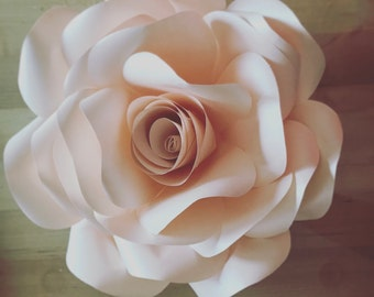 Rose Paper Flower Template  DIY