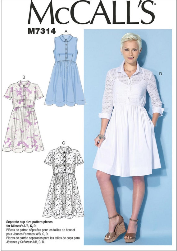 Vestido coser patrones McCall señoritas sin cortar P203 o 7314 ...