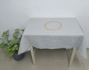 Linen Table cloth Gift For Mother Personalized Table Cover