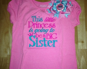 Big Sister shirt and bow