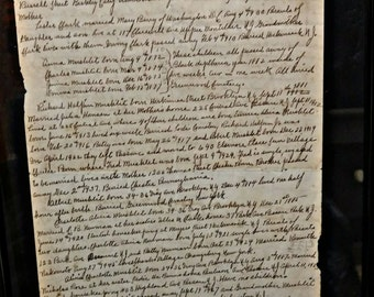 Family Ancestry Letter - Victorian Age to 20th Century - Includes Tragic Death of Children - Black Diphtheria