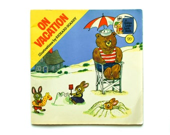 On Vacation 1976 Illustrations by Richard Scarry Vintage Children's Book A Golden Look Look Book