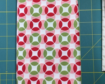 Vintage Modern Bonnie & Camille circles green red moda fabric FQ or more