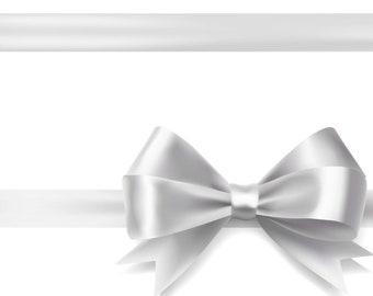 15mm Personalised Silver Satin Ribbon