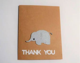 Elephant Baby Thank You Cards,  Thank You Cards, Welcome Baby, Thank You Baby Cards, Baby Shower, Baby Card, Elephant Baby Card, Cards