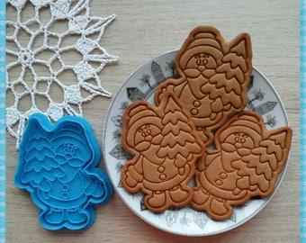 New Year cookie cutter. 3D printed cutter. Christmas. Dough Cutter. Fondant Cutter
