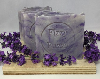Lovely Lavender Handmade Natural Soap with Shea Butter. Cold process soap.