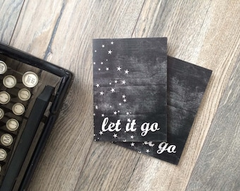 Inspirational Greeting Card Let it Go Greeting Card Motivational Encouragement Card Let it Go Card Inspirational Greeting Card