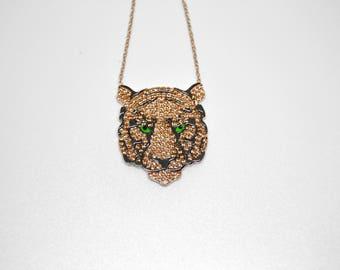 Tiger necklace, 925 Sterling Silver Necklace, Turkish necklace, Grand bazaar