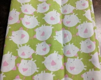 """Fabric 11 1/2"""" x 44"""" pigs"""