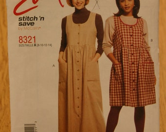 Easy Stitch 'n Save by McCall's Misses Pattern 8321 Sizes 8-14