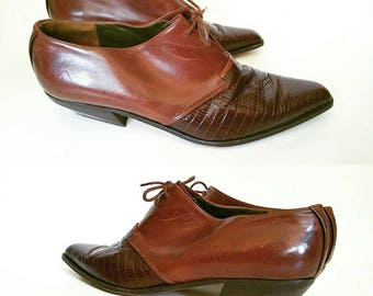 Vintage Via Spiga Leather Lace Up Ankle Booties | Labeled Size 9