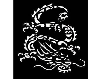 TEXTILE DECO pattern 7 X 10 CMM DRAGON TATTOO STENCIL