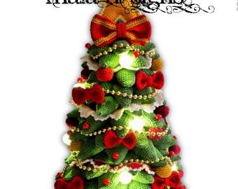 christmas tree, crochet pattern by mala designs ®