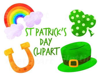St Patrick's Day Clipart, st patrick clipart, clip art, for personal and commercial use, instant download, scrapbooking, planner stickers