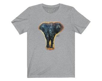 Lucky Elephant Unisex Jersey Short Sleeve Artistic Tee Design By Rafi