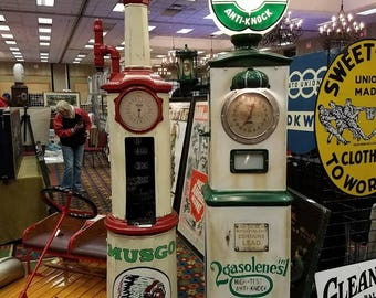 American clockface gas pump