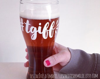 """Sticker """"TGIF: Thank god I'm fabulous"""" to stick on the cups of coffee"""